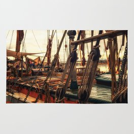 Rigging of Ancient Yachts Rug