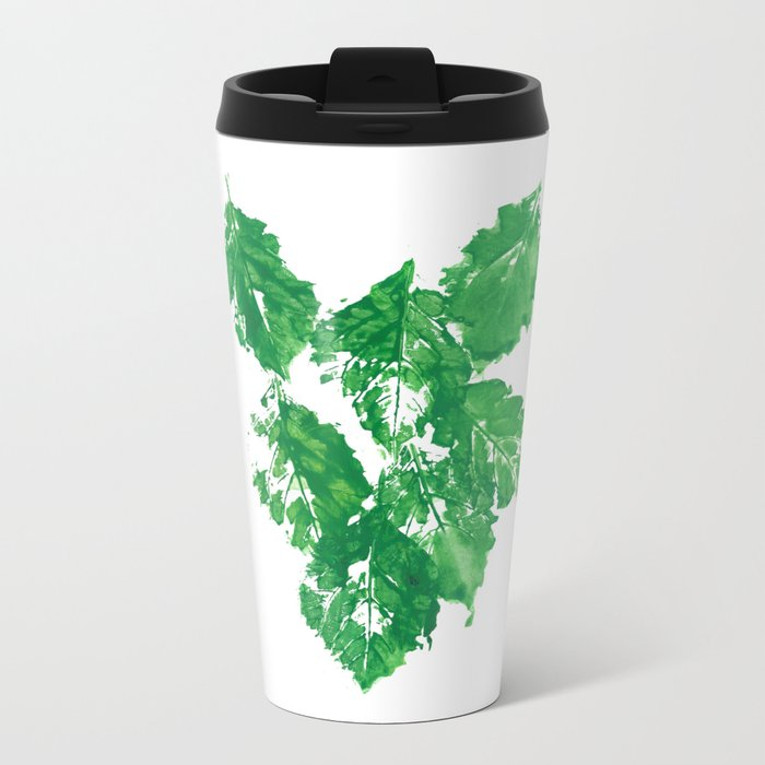 Falling Leaves Metal Travel Mug