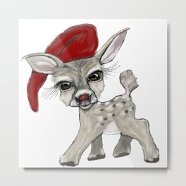 Little Rudolf Metal Print
