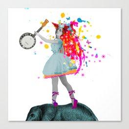 a true princess makes her own music (041) Canvas Print