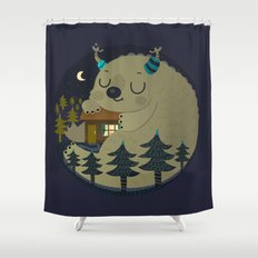 Home is where the monsters are Shower Curtain