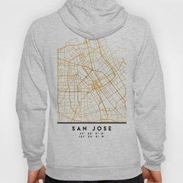 SAN JOSE CALIFORNIA CITY STREET MAP ART Hoody