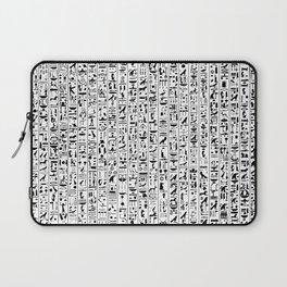 Hieroglyphics B&W / Ancient Egyptian hieroglyphics pattern Laptop Sleeve