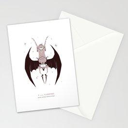 V is for Vampire Stationery Cards