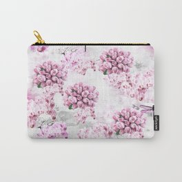 ORCHIDS ROSES MAGNOLIAS and Dragonflies Carry-All Pouch