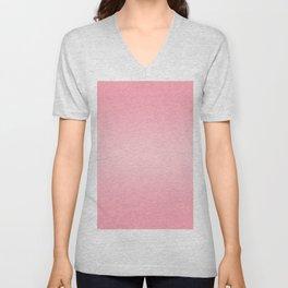 Pink to Pastel Pink Horizontal Bilinear Gradient Unisex V-Neck