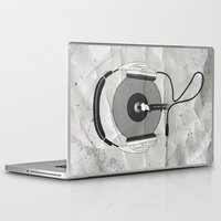 afro Laptop & iPad Skins featuring vinyl afro by Vin Zzep