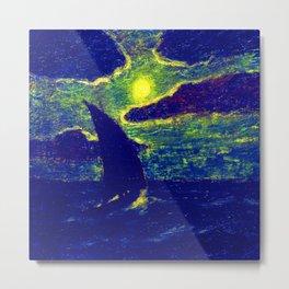 Albert Pinkham Ryder Sailing by Moonlight Metal Print