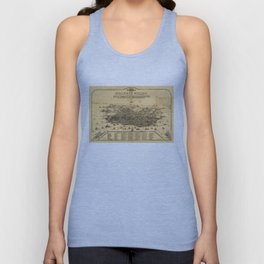 Aerial View of San Francisco, California (1875) Unisex Tank Top