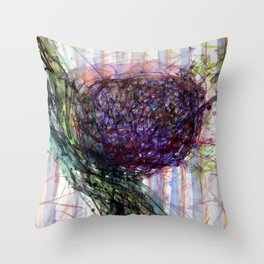 Splashy Fruit Throw Pillow