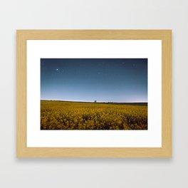 Starry Skies Over Canola Framed Art Print