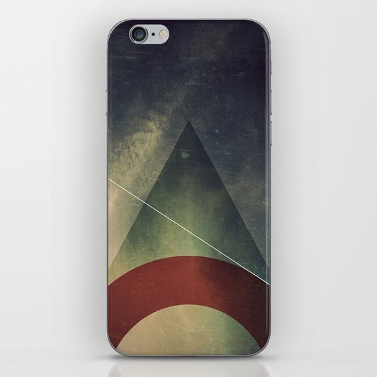 triangle half circle iPhone Skin