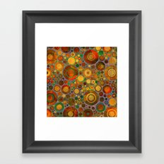 Abstract Circles Pattern 2 Framed Art Print