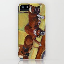Boxer Dog Siesta iPhone Case