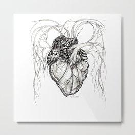 Butterfly Heart Metal Print