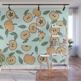 Apples watercolor Wall Mural