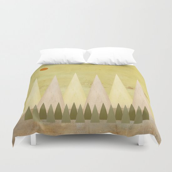 Deep in the Mountains Duvet Cover