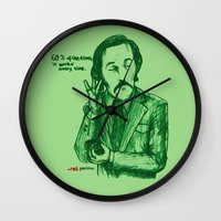 anchorman Wall Clocks featuring Anchorman: 60% of the Time by Red Misery