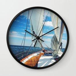 Sweet Sailing Wall Clock