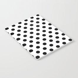 Black Polka Dots on White Notebook