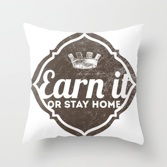 Earn It E-dub 2 Throw Pillow