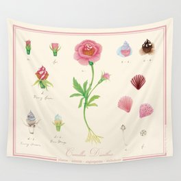 cupcake flower botanical art illustration Wall Tapestry