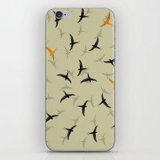 spiral birds iPhone Skin