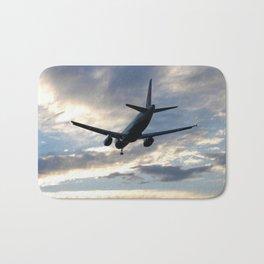 A320 Sunset Landing Bath Mat