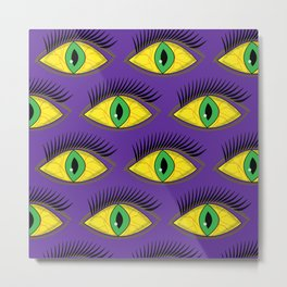 Creepy Eyes Metal Print