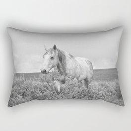 Stormy Walk Horse Photograph Rectangular Pillow