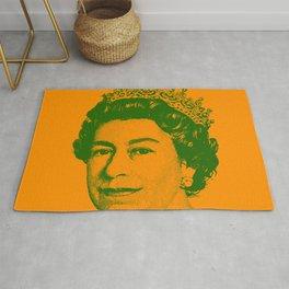 Queen Elizabeth Orange and Green Rug