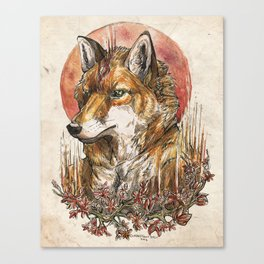 Fire Fox Spirit  Canvas Print