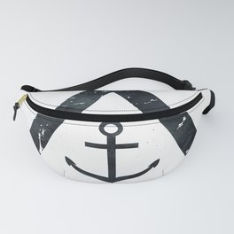 Vintage Anchor Black and White Fanny Pack