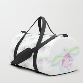 Hibiscus fairy: floral pattern made of color pencil drawing Duffle Bag