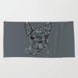 Sketchy Frenchie Beach Towel