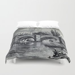 Cathedrals, abbeys and churches of England and Wales Duvet Cover
