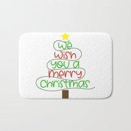 we wish you a merrye christmas Bath Mat