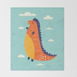 Funny Dinosaur Throw Blanket