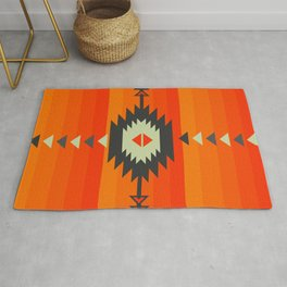 Southwestern in orange and red Rug