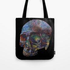Skull Map Tote Bag