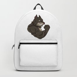 Pitbull At The Gym   Training Fitness Muscles Backpack
