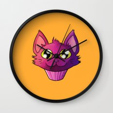 Super Kawaii Neko Muffin Wall Clock