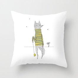 Yo Fox Throw Pillow