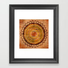 Four Dragons Mandala Framed Art Print