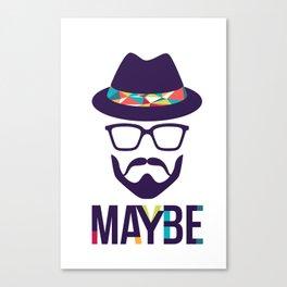 Maybe - mod. Brand t-shirt uomo-donna Canvas Print