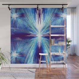 Flashing Blue Star Wall Mural