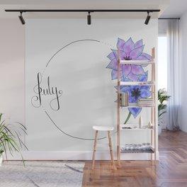 July - Flower Months Wall Mural