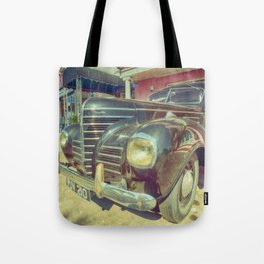 Retro Vintage Chrysler in Color Tote Bag
