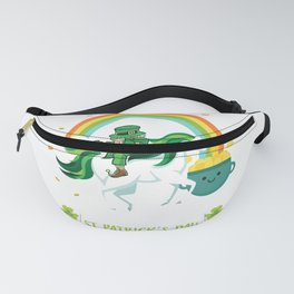 Funny St Patricks day unicorn design - perfect outfit Fanny Pack