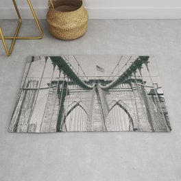 Brooklyn bridge, architecture, vintage photography, new york city, NYC, Manhattan view Rug